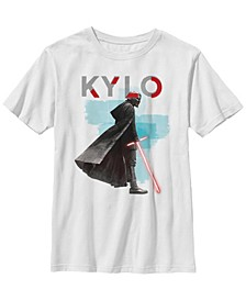 Big Boys Kylo Ren Red Lightsaber Short Sleeve T-Shirt