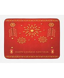 Chinese New Year Bath Mat