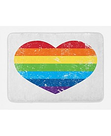 Vintage Like Rainbow Bath Mat