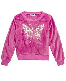 Big Girls Sequin Butterfly Sweatshirt