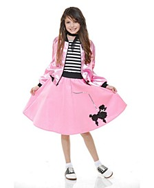 Big and Toddler Girls Sock Hop Sweetheart Costume