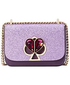Nicola Glitter Twistlock Chain Shoulder Bag