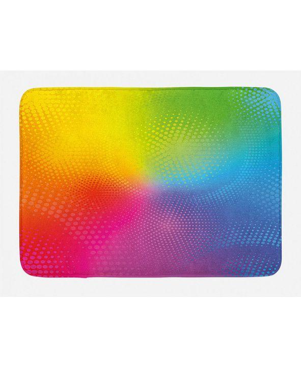 Ambesonne Rainbow Bath Mat