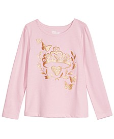 Little Girls Butterfly Tiara T-Shirt, Created For Macy's