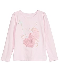 Little Girls Cherry Hearts T-Shirt, Created For Macy's