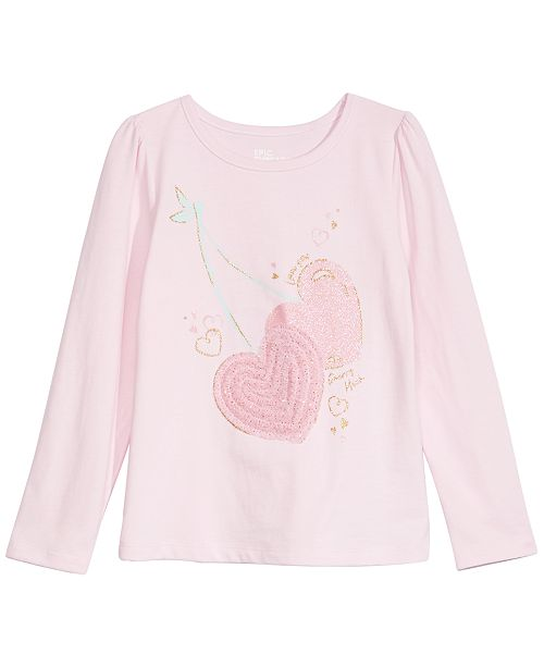 Epic Threads Toddler Girls Cherry Hearts T-Shirt, Created For Macy's