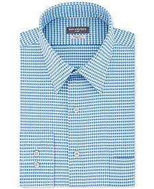 Men's Classic/Regular-Fit Performance Stretch Wrinkle-Free Flex-Collar Check Dress Shirt