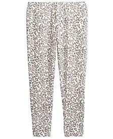 Little Girls Snow Leopard Leggings, Created For Macy's