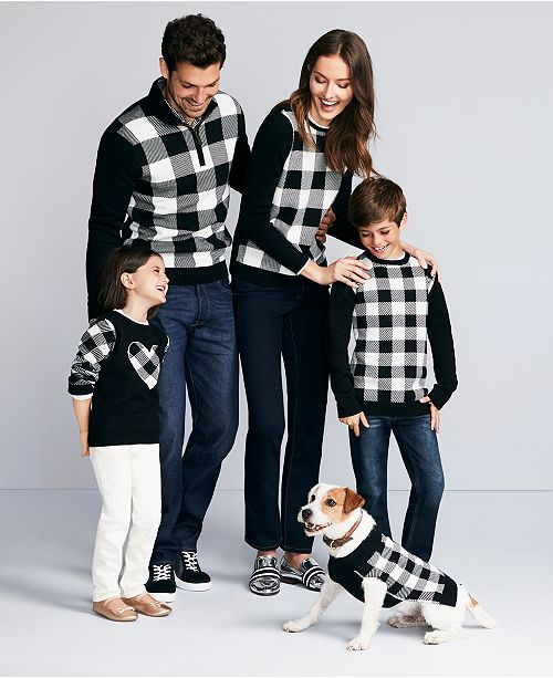 Charter Club Buffalo Check Family Sweaters, Created For Macy's