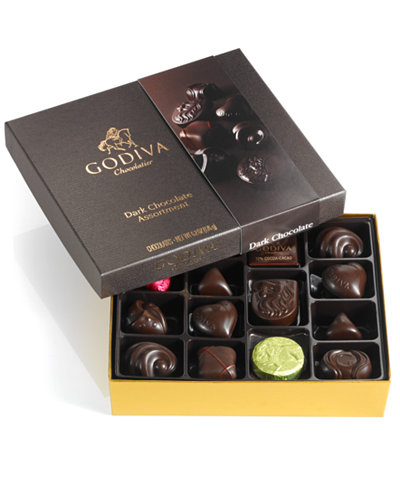 Godiva Chocolatier, 16-Pc. Box of Dark Chocolates