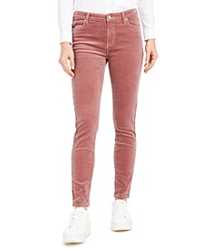 High-Rise Blush Skinny Corduroy Pants