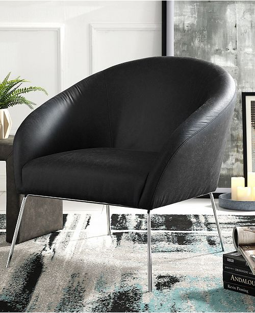 Nicole Miller Catriona Barrel Accent Chair with Metal Legs