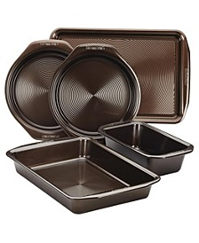 Symmetry Nonstick Chocolate Brown 5-Pc. Bakeware Set