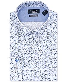 Men's Heritage Slim-Fit Performance Stretch Geo-Print Dress Shirt