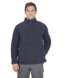 Men's 1/4 Zip Fleece Anorak Pullover With Soft Sherpa Backing
