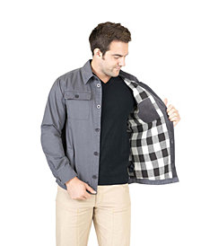 Men's Cotton Shirt Jacket With Flannel Lining