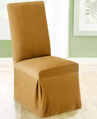 Sure fit stretch pique long dining room chair slipcover for Sure fit stretch slipcovers clearance