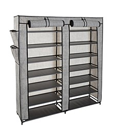 7 Tier Double Wide 14 Shelf Shoe Closet