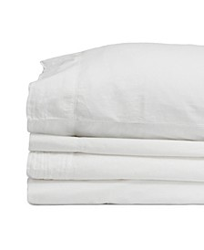 Jennifer Adams Relaxed Cotton Percale Adjustable Split King Sheet Set