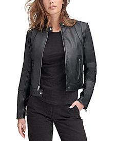 Marc New York Leather Moto Jacket