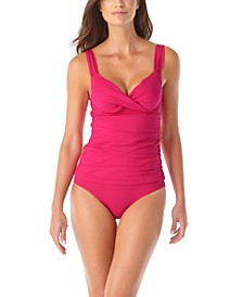 Bra-Sized Tankini Top & High-Waist Bottoms