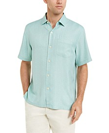 Men's Classic-Fit Traveling Geo Silk Shirt