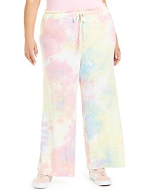 Trendy Plus Size Tie-Dyed Palazzo Pants