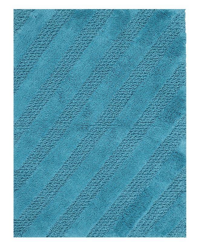"Perthshire Platinum Collection Diagonal Honeycomb 24"" x 40"" Bath Rug"