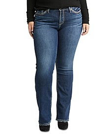 Trendy Plus Size Suki Slim Bootcut Jeans