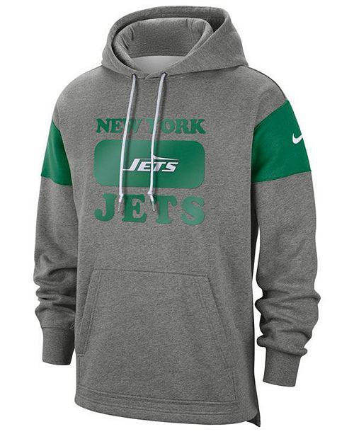 Nike Men's New York Jets Historic Pullover Hoodie