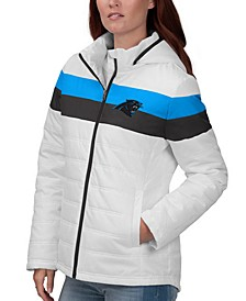 Women's Carolina Panthers Tie Breaker Polyfill Jacket