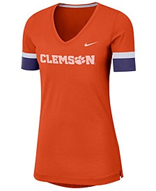 Women's Clemson Tigers Fan V-Neck T-Shirt