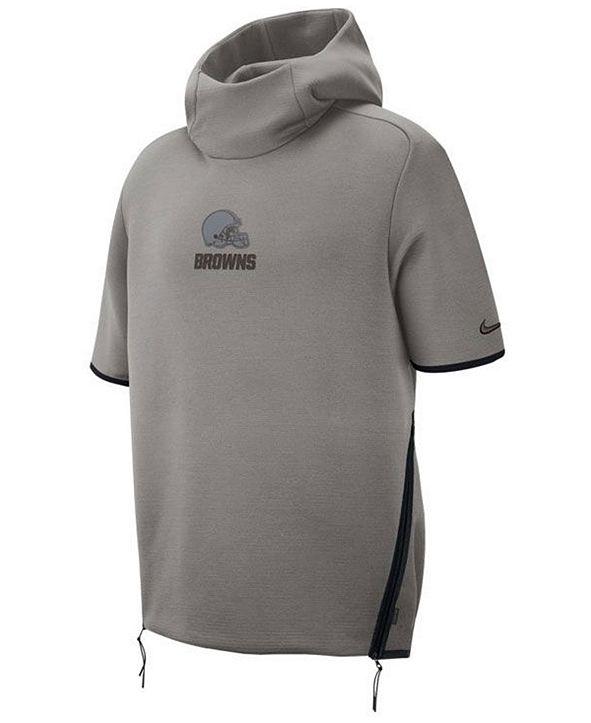 Nike Men's Cleveland Browns Player Repel Short Sleeve Hoodie