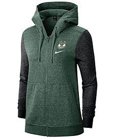 Women's Milwaukee Bucks Full-Zip Club Fleece Jacket