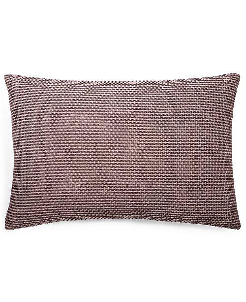 """Calvin Klein Woven Diamond 14"""" X 20"""" Decorative Pillow"""