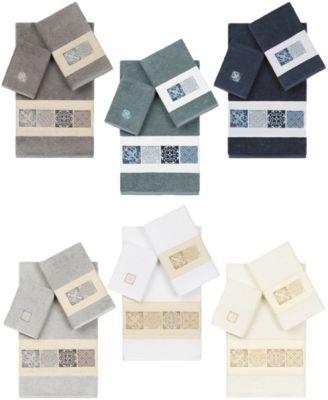 100% Turkish Cotton Vivian 2-Pc. Embellished Washcloth Set