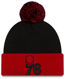 Philadelphia 76ers Black Pop Knit Hat