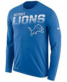 Men's Detroit Lions Sideline Legend Line of Scrimmage Long Sleeve T-Shirt