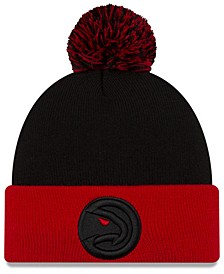 Atlanta Hawks Black Pop Knit Hat
