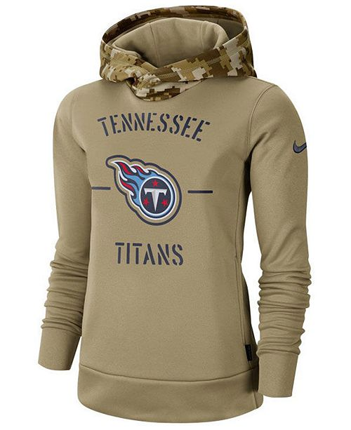 Nike Women's Tennessee Titans Salute To Service Therma Hoodie