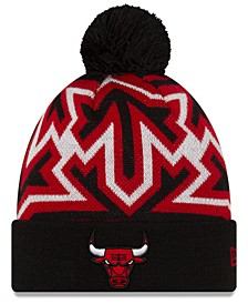 Chicago Bulls Big Flake Pom Knit Hat