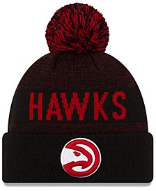 Atlanta Hawks Blackout Speckle Knit Hat
