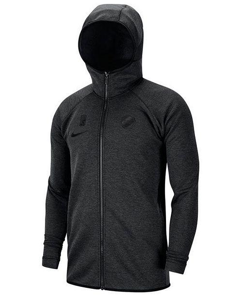 Nike Men's Detroit Pistons Showtime Dry Full-Zip Hoodie
