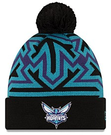 Charlotte Hornets Big Flake Pom Knit Hat