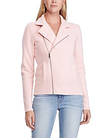 Petite Cotton Moto Jacket