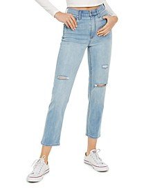 Juniors' Ripped Slim Straight Jeans