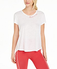 Love Burnout Split-Back T-Shirt, Created For Macy's