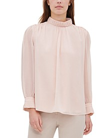 High-Collar Blouse