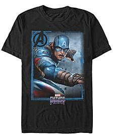 Men's Captain America Gamerverse Avengers Future Fight Poster, Short Sleeve T-Shirt