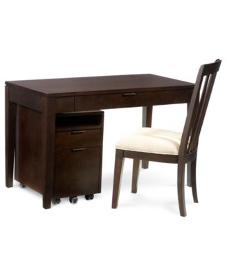Tribeca Home Office Furniture, 3 Piece Set (Desk, Chair And File Cabinet)
